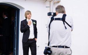 Katrine og Jarons bryllup i Them Kirke, 2015